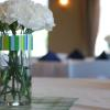 Linen rentals are included in banquet room rental packages.  You have the capability to choose from a variety of colors!