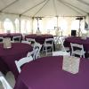 Add additional seating off of our banquet room by holding part of your reception in a tent overlooking the 18th hole.  The tent seats approximately 90 people.