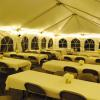 This 20' x 40' tent can seat approximately 90 guests.  For larger events, call or email Jeff at 218.773.1207 or jeff.valleygolf@gmail.com for more information.  Tent and lights provided by Nate's Canopy